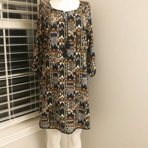 Skies Are Blue Aztec Tunic Dress. E45